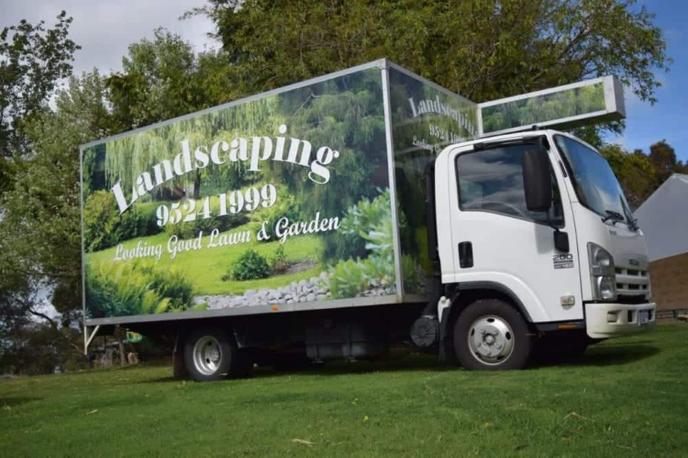 Looking Good Landscaping truck