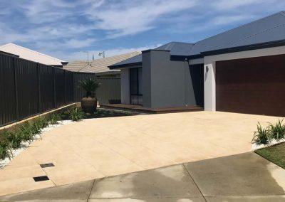 backyard concrete landscaping