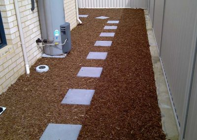 Charcoal-Steppers-in-Wood-Chip-Mulch