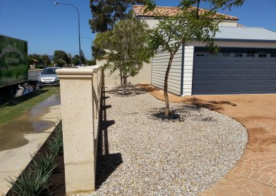 front yard concrete landscaping