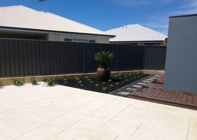 backyard makeover stepper paths