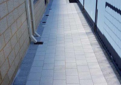 block pave concrete landscaping