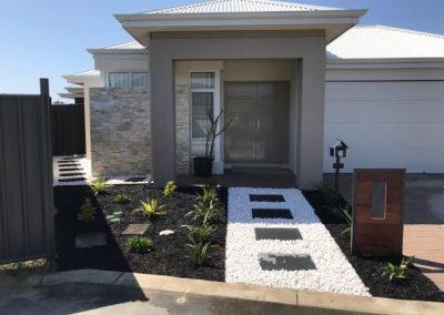 backyard stepper paths installation