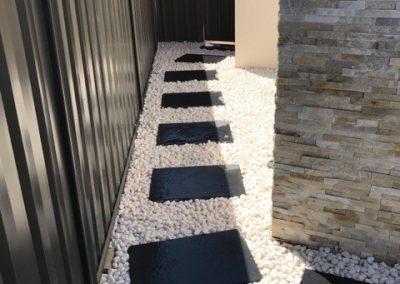 stone stepper paths installation
