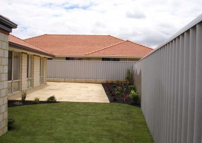 backyard landscape edging perth