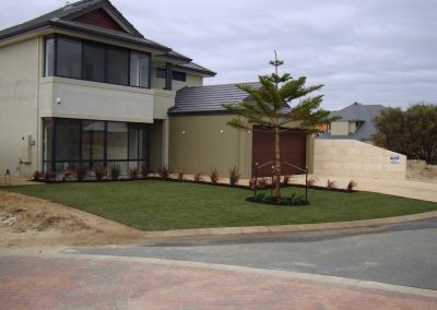 front yard landscape edging perth