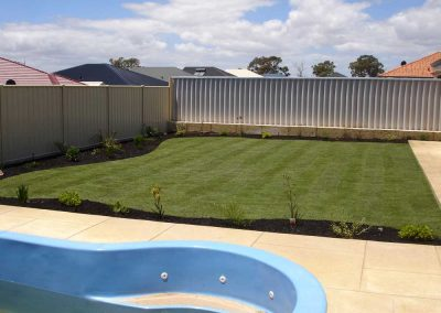 residential lawn and garden turf installation