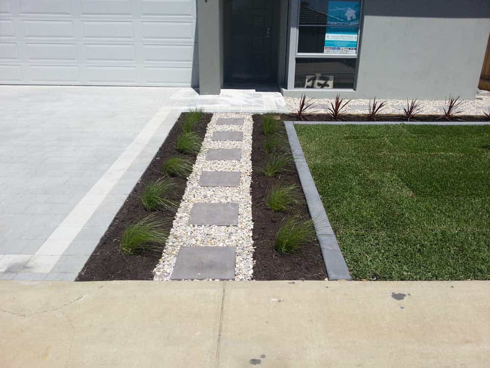 lawn garden edging stepper paths landscaping