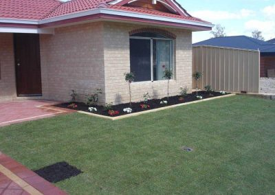 lawn garden turf installation landscaping inspiration