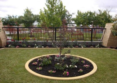 lawn garden circle edging landscaping inspiration