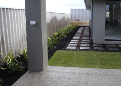 lawn garden stepper paths landscaping inspiration