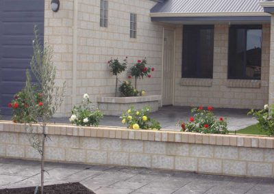lawn garden block work landscaping inspiration