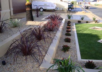 planting and block work landscaping inspiration