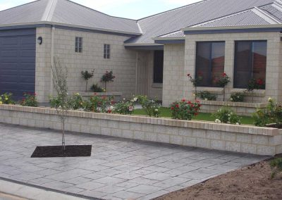 planting and blockwork landscaping inspiration