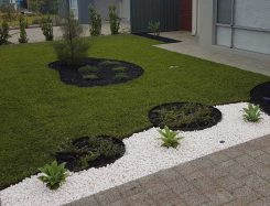 circle garden edging landscaping