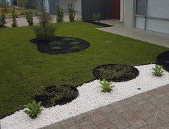 circle garden edging landscaping