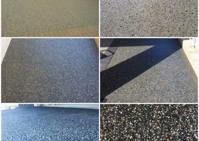 washed colours concrete pave landscaping