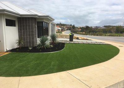 turf installation garden landscaping