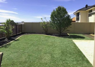 backyard garden makeover turf installation