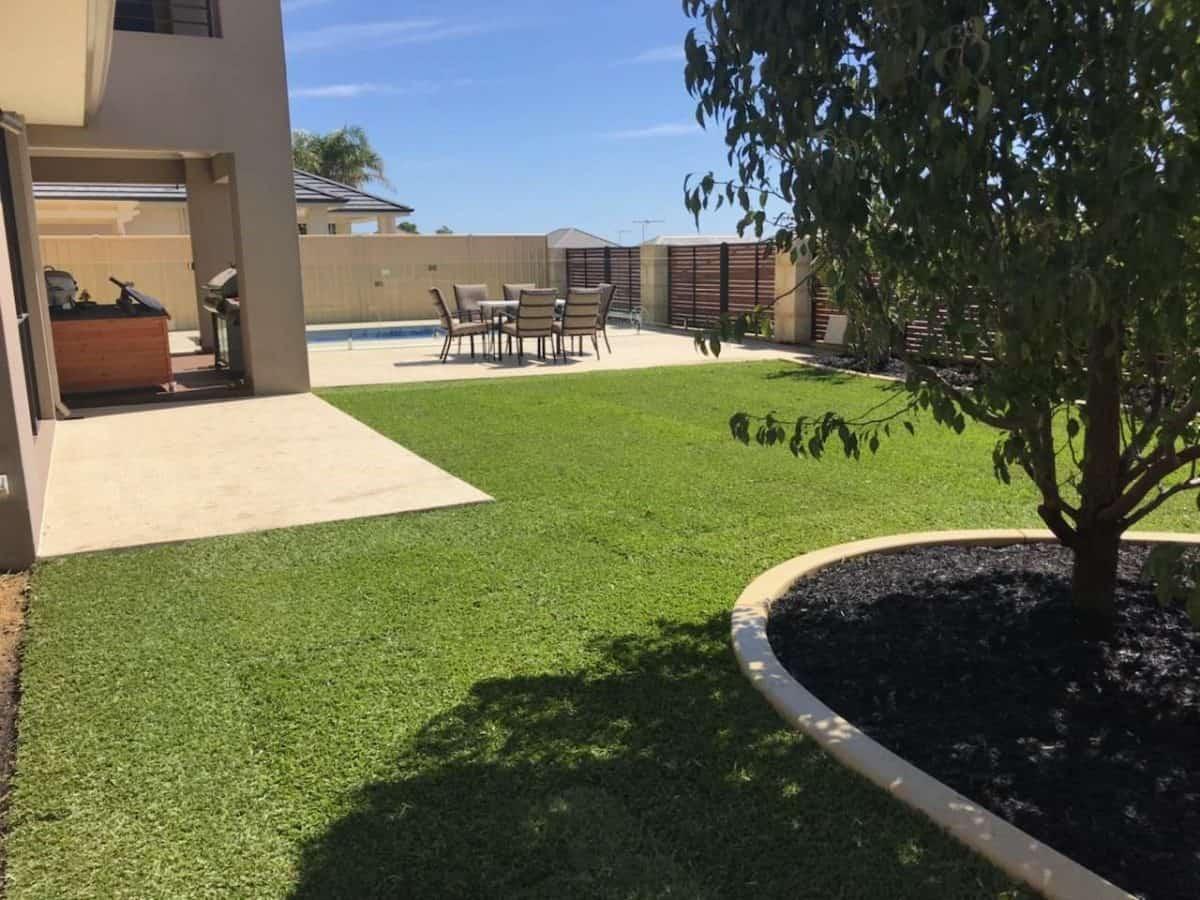 backyard garden makeover grass beds