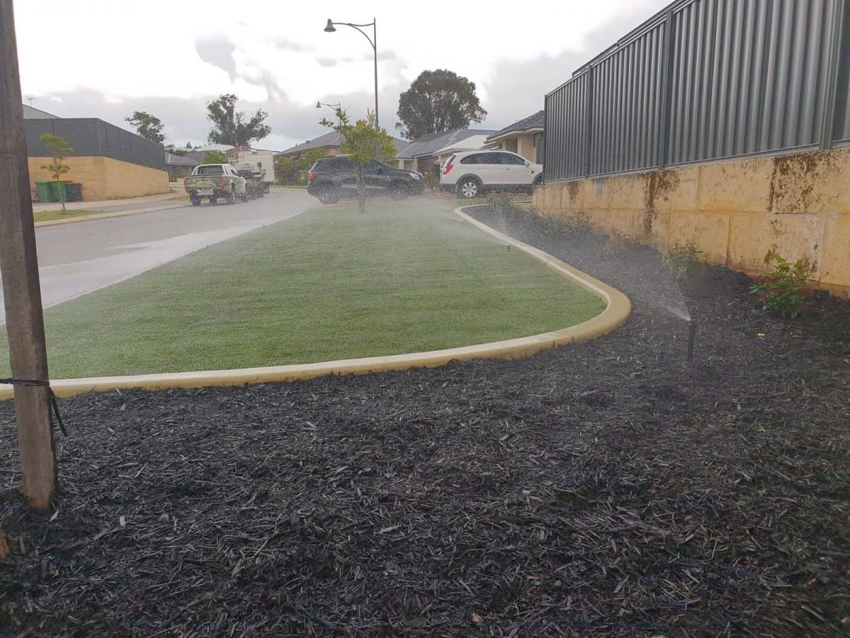 Front Lawn Makeover Turf Installation and Reticulation