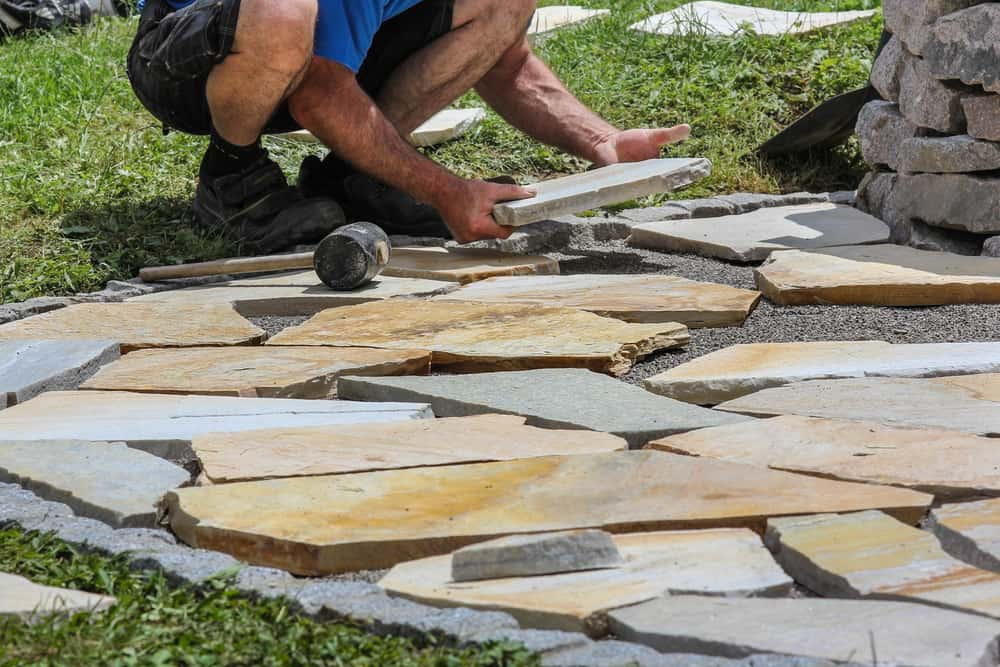 pavers stones and stepper installation