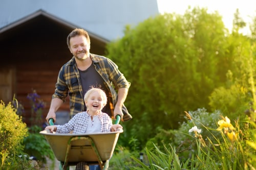 safe garden design for kids